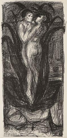 Munch, Edvard - Kjærlighetsblomsten / The Flower of Love 1896/1906