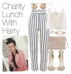 """""""Charity Lunch with Harry"""" by onedirectionimagineoutfits99 ❤ liked on Polyvore featuring Zara, Topshop, ROSEFIELD, Christian Dior and Reeds Jewelers"""