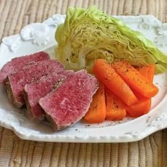I always think of my dad when I make Slow Cooker Corned Beef with Veggies and Horseradish Sauce every year for St. Patrick's Day.  He loved it and I loved making it for him!   [from KalynsKitchen.com]
