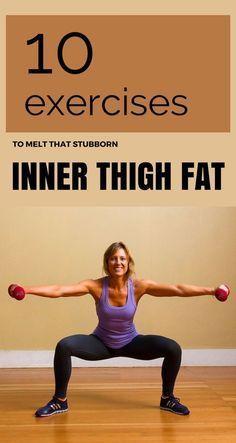 10 Exercises To Melt That Stubborn Inner Thigh Fat #innerthigh #fat #fitness