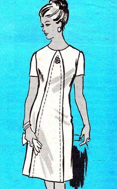 1960s Dress Pattern Progressive Farmer 4635 Mod by paneenjerez, $14.00