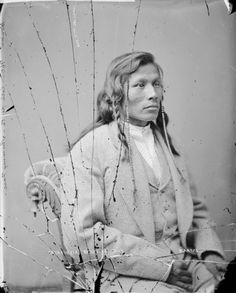 E-sta Poo-sta or Running Face, son of Mandan chief Red Cow, 1874