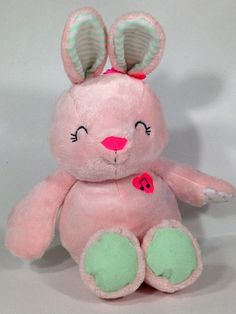 """Carters Musical Pink Bunny Rabbit Twinkle Little Star Baby Plush Rattle Toy 16"""" #Carters"""