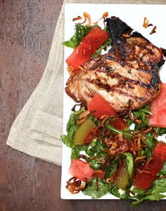 Vietnamese Pork Chops with Pickled Watermelon + 10 Best Food magazine recipes from 2014 Healthy Grilling, Grilling Recipes, Pork Recipes, Asian Recipes, Cooking Recipes, Keto Recipes, Pickled Watermelon Rind, Watermelon Pickles, Watermelon Salad