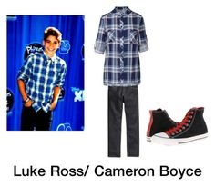 """Luke Ross/Cameron Boyce"" by hatmosyog ❤ liked on Polyvore featuring H&M, Converse and Ally Fashion"