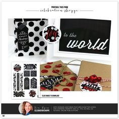 Free Printable Holiday Gift Tags by @KD Eustaquio {The Celebration Shoppe} The Celebration Shoppe as seen in The TomKat Studio Holiday Gift Guide! http://www.thetomkatstudio.com/holidaygifttags/