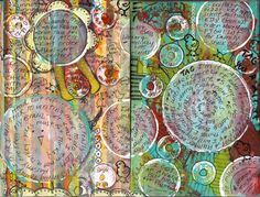 from http://beelieve.typepad.com/my_weblog/whacked_altered_journal/    I love the idea of circles; sort of journalling-come-mindmapping!