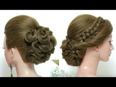 Hairstyles for long hair tutorial. 2 bridal updos - YouTube