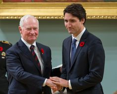 Canadian Governor General David Johnson and Newly Sworn in Prime Minister Justin Trudeau at Rideau Hall