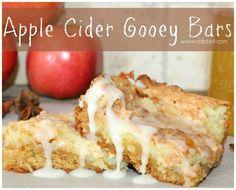 ~Apple Cider Gooey Bars!