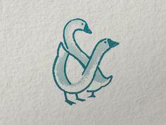 Goose & Gander Ampersand by Chelsea Wirtz Duck Tattoos, New Tattoos, Small Tattoos, Tatoos, Gans Tattoo, Goose Drawing, Ampersand Tattoo, Small Meaningful Tattoos, Sign Design
