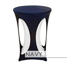 Spandex Cutout Highboy Table Overlay Highboy Table, Navy Weddings, Table Overlays, Tall Table, Event Design, Bistro Tables, Product Launch, Spandex, Event Ideas