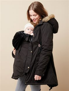 Lightweight Maternity Jacket for During and After Pregnancy Mother /& Nature Outdoor Adjustable Maternity Fleece