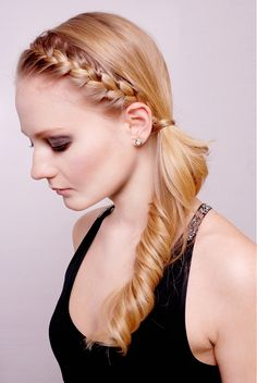 gorgeous side braid with curl. elegant. click thru to read post