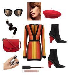 """платье"" by malishevan ❤ liked on Polyvore featuring Balmain, Balenciaga, KC Jagger, Brixton and Burberry"