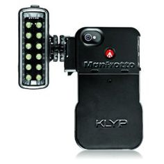 A light for shooting iPhone video?? WANT! Manfrotto KLYP iPhone 4/4S Case with ML120 LED Light