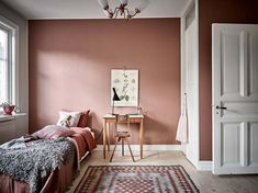 Schlafzimmer Source Home Decor Budget, Home Decor on a budget, Home Deco Pink Bedroom Walls, Pink Walls, Bedroom Colors, Home Bedroom, Bedroom Ideas, Master Bedroom, Bedroom Decor, Bedroom Wardrobe, Bedroom Lighting