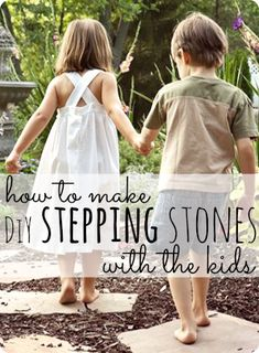 How to make DiY Stepping Stones with the kids--this fun & thrifty project is easier than you might think!  A great summer project or Father's Day gift idea!