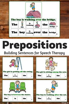 Prepositions Activity for Speech Therapy and Autism Preposition Activities, Speech Therapy Activities, Language Activities, Fun Activities, Teacher Resources, Teaching Ideas, Sentence Structure, Common Core Reading, Thing 1