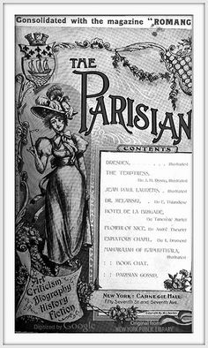1897 September, - COVER - The Parisian - Carnegie Hall, 57th St. and 7th Ave. New York, New York