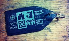 And here's one of the 250 key fob's that we donated to the leaders, ministers and delegates of the 2014 NATO summit!!
