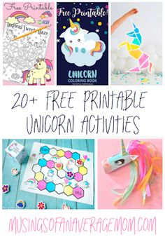 More than 20 free printable Unicorn activities for kids