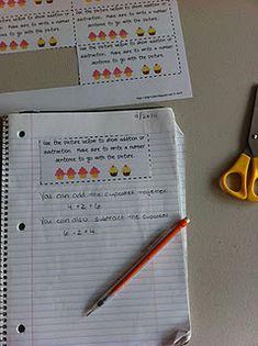 Great for a math center using math journals.
