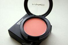 MAC Sheertone Blush in Melba- a matte true peach tone. A gorgeous peach blush.
