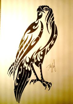 13 Latest Hawk Tattoo Designs And Ideas Tribal Drawings, Tribal Art, Tattoo Stencils, Stencil Art, Native Art, Native American Art, Bird Of Prey Tattoo, Deer Tattoo, Falke Tattoo