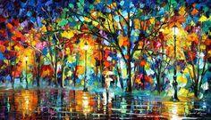 LONELY WALK - PALETTE KNIFE Oil Painting On Canvas By Leonid Afremov http://afremov.com/LONELY-WALK-PALETTE-KNIFE-Oil-Painting-On-Canvas-By-Leonid-Afremov-Size-20-X36.html?bid=1&partner=20921&utm_medium=/vpin&utm_campaign=v-ADD-YOUR&utm_source=s-vpin