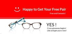 Crazy giveaway begins! Free high quality prescription glasses, 1.56 single vision lenses included. Get yours now! http://www.facebook.com/OzealGlasses/app_121677374624060