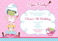 Custom spa themed birthday party invitations diy printable file spa birthday party invitation printable invitation spa girls you print or i print filmwisefo