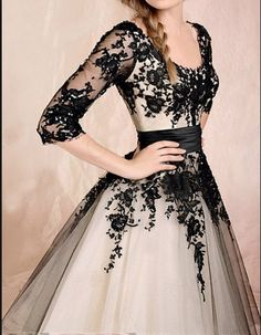 long sleeve lace dress black lace dress prom dress by sposadress,