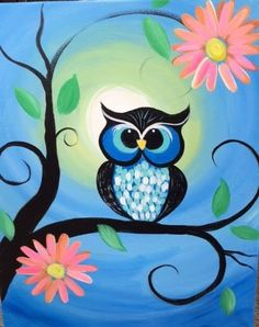 Cute owl painting!!