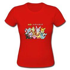 bb603e6e43 Cute Eevee Pokemon Custom Design Womens Cotton T-shirt Tee Red X-large –  Pokemon Tshirt   Dress for Women