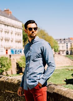Test de la chambray Paname Collections  #style #menstyle #menswear #jacket #spring #shoes #summer #look #shirt #pant #panamecollectins #frenchbrand #commeuncamion