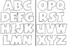 Molde de letras para imprimir y recortar - Imagui | Alfabeto ...