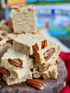 This wonderfully easy Penuche recipe will blow you away with it's amazing brown sugar flavor and creamy texture! Perfect for the holidays and a tasty addition to cookie trays and dessert tables! // Mom On Timeout Nut Recipes, Fudge Recipes, Candy Recipes, Sweet Recipes, Cookie Recipes, Dessert Recipes, Fudge Flavors, Dessert Ideas, Dinner Recipes