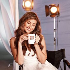 Feels so great to be able to relax in between takes with a mug of Smooth and Creamy Great Taste White ☕ Lisa Soberano, Bellisima, Relax, Smooth, Mugs, Feelings, Video, Instagram, Pictures