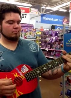 Dude slays the blues... with a WALMART #guitar!
