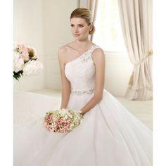 Empire A-line One Shoulder Crystal Belt Slim Wedding Dresses - Wedding Dresses