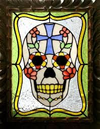 skull stained glass - Google Search
