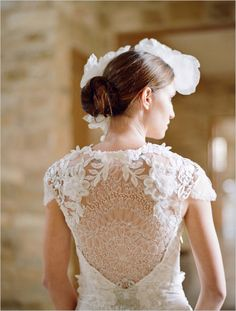 11 Drop-Dead Gorgeous Portrait-Back Wedding Dresses: Elizabeth Messina on Wedding Chicks