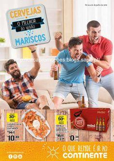 Promoções Continente - Antevisão Folheto 14 a 26 junho Cervejas / Mariscos - http://parapoupar.com/promocoes-continente-antevisao-folheto-14-a-26-junho-cervejas-mariscos/
