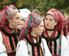 Croatian girls in folklore costume in Hungary - Croatian national costume - Wikipedia, the free encyclopedia