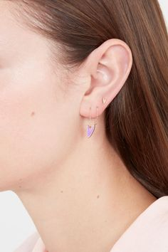 Lilac Make-up 'Needle & Thread' Earrings in Gold, Silver & Rose Gold Heart Earrings, Diamond Earrings, Queen Of Hearts, Needle And Thread, Fashion Women, Lilac, Studs, Dangles, Make Up