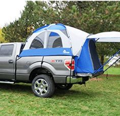 Truck tent perfect for an easy camping setup! Add the truck air mattress and wow! Need this in my camping collection! Truck Camping, Diy Camping, Camping World, Camping Gear, Camping Hacks, Camping Stuff, Camping Jokes, Camping Guide, Camping Trailers