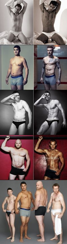 How Ordinary/Average Men Would Look In Underwear Ads