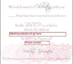 wedding rsvp online wording