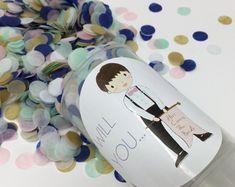Bridesmaid Proposal Will you be my bridesmaid. Push Pop Confetti, Confetti Poppers, Will You Be My Bridesmaid, Bridesmaid Proposal, Handmade Gifts, Etsy, Kid Craft Gifts, Craft Gifts, Diy Gifts